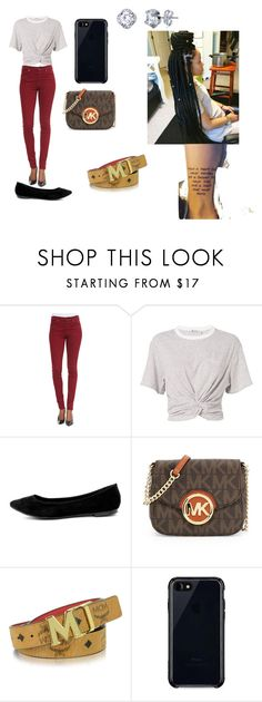 """""""Untitled #85"""" by babygirlcc ❤ liked on Polyvore featuring 7 For All Mankind, T By Alexander Wang, Breckelle's, MICHAEL Michael Kors, MCM and Belkin"""