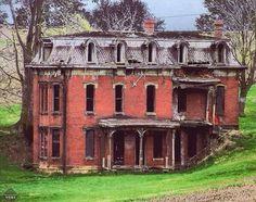 Mansión abandonada en Lancaster, Ohio.