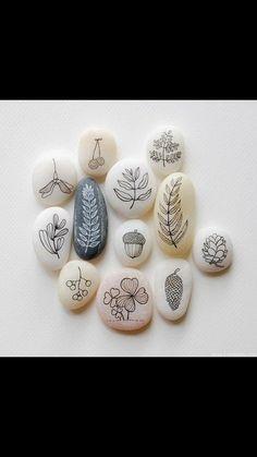 Piedras con base blanca