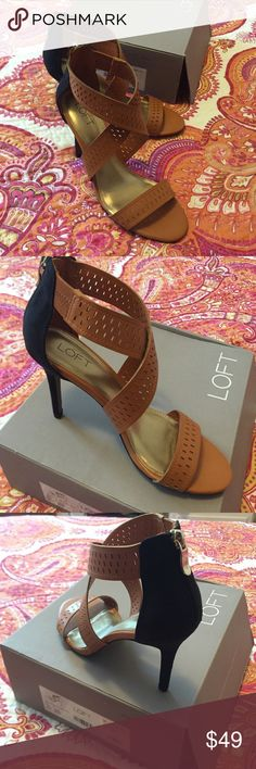 daaed92994b Loft tan and black heeled sandals BNIB Ann Taylor Loft heels. Two-tone tan  and black