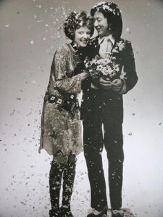 Grace Coddington & her former husband restaurateur Michael Chow by Barry Lategan,1969
