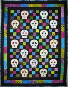 Patchwork Sugar skull | Quilts | Pinterest | Sugar skulls ... : sugar skull quilt pattern - Adamdwight.com