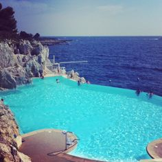 """""""I love this saline pool at the Hotel du Cap. The colors of the blues literally make me happy!"""" -jane doe"""