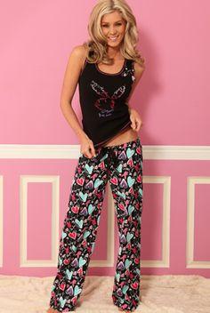 "Playboy ""Dreamland"" Printed Flannel Long Pant"
