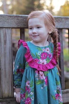 Little Lizard King Girls Avonlea Dress Baby Girl Party Dresses, Little Girl Dresses, Baby Dress, New Frock, Kids Blouse Designs, Romper Pattern, Top Pattern, Little Lizard, Frocks For Girls