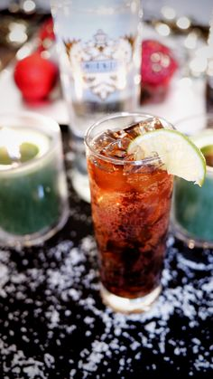 Campfire Cola drink recipe: 1.5 oz SMIRNOFF® FLUFFED MARSHMALLOW Flavored Vodka, 0.5 oz maraschino cherry juice, 2.5 oz cola, 1 lime wedge. Mix vodka and maraschino cherry juice in a cocktail shaker with ice. Pour into a tall ice-filled glass and top with cola. Garnish with a lime wedge. #Smirnoff #vodka #cola #cherry
