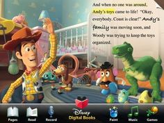 Toy Story Animated Storybook Read-Along This is a you tube list of books for children.