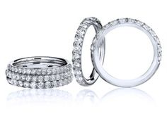 My wife has been really sweet to me the past few months. I've been going through a hard time, and she has been such a supportive rock. I feel like she needs a little bit of a reward. Maybe I'll get her a sweet diamond ring like these ones in this picture.
