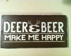 Deer and Beer Hunting Sign Hunting Decor Deer and by NaturesGlow
