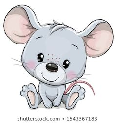 Illustration about Cute Cartoon Mouse isolated on a white background. Illustration of children, adorable, cheese - 162473002 Baby Animal Drawings, Cute Drawings, Cartoon Drawings Of Animals, Cute Cartoon Animals, Cartoon Art, Cartoon Illustrations, Cartoon Mignon, Kids Cartoon Characters, Cute Clipart