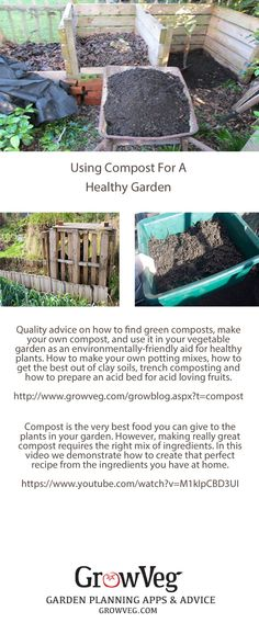 How to make and use compost in your own garden, including a link to the Perfect Compost Recipe Video from growveg.com. These links show you how to rejuvenate clay soils, how to trench compost, how to make an ericaceous bed for acid loving fruits. Getting your soil right is the first and most important step towards creating your own productive vegetable plot and here is where it starts.....