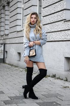 www.streetstylecity.blogspot.com Fashion inspired by the people in the street franziska-elea-blogger-aus-muenchen-about-you-overknee-stiefel-herbst-2016-oversize-pullover-overknees-kombinieren-winterstiefel-fall-outfit-look