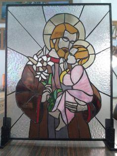 San José stained glass St Joseph