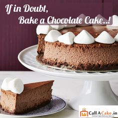If in doubt,bake a #chocolate #cake..!#yummy #delicious #callacake.in