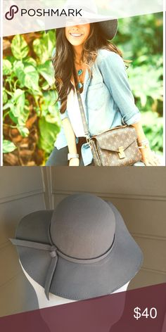 ❤️❤️SALE❤️Gray floppy hat-NEW! One size fits all Accessories Hats