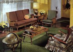 keeping a contemporary feeling to it, then we're on the same boat. See below a series of unforgettable ideas for your mid-century living room decor. 1970s Living Room, Cute Living Room, Retro Living Rooms, Mid Century Living Room, Living Room Decor, Maple Furniture, Wood Furniture Living Room, Colonial Furniture, Retro Room