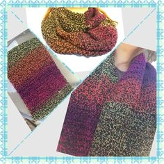Variegated Infinity Scarf Beautiful multi infinity scarf that wraps around one time, giving more full, chunky thickness for added warmth. Great colors. Goes fantastic with black, any color in the scarf, or white. Buy today!! Amanda DePastino Accessories Scarves & Wraps