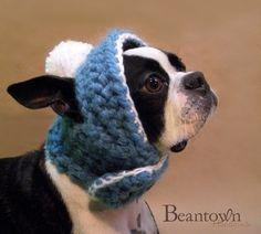 The Abominable Snow Bean Dog Hat Custom Colors by BeanTownHandmade, $28.00