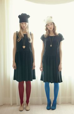 Smock Dresses / Colour Tights