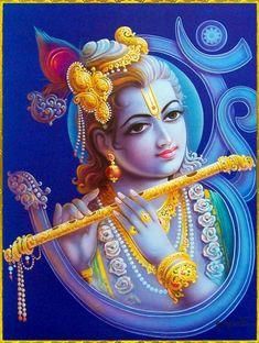 Lord Krishna in Om - Hindu Posters (Reprint on Paper - Unframed) Krishna Statue, Bal Krishna, Jai Shree Krishna, Lord Krishna Images, Radha Krishna Pictures, Krishna Art, Radhe Krishna, Shiva Art, Shiva Shakti