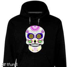 Check out Limited Edition Sugar Skull Día de Muertos Hoodie by KRW Designs fundraiser t-shirt. Buy one & share it to help support the campaign!