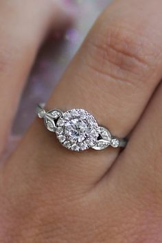Unique engagement ring on hand! Roman Crown, in white gold engagement ring by Silly Shiny Diamonds