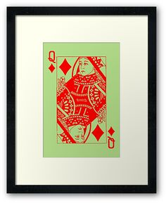 QUEEN OF DIAMONDS-RED by IMPACTEES