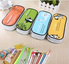New arrival Lovely Fashion Double Zipper Pencils Box Portable Student Stationery Bag Storage estuches school trousse