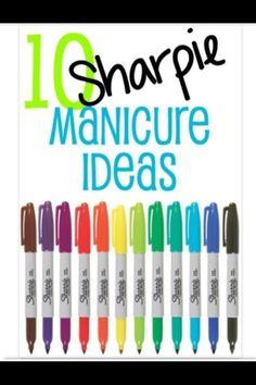 10 Sharpie Manicure Ideas: #Fashion #Beauty #Trusper #Tip