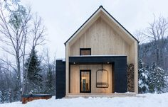 Container House - Villa Boréale / Charlevoix, Quebec // Cargo Architecture Who Else Wants Simple Step-By-Step Plans To Design And Build A Container Home From Scratch? Scandinavian Architecture, Interior Architecture, Residential Architecture, Sustainable Architecture, Amazing Architecture, Luxury Interior, Room Interior, Dezeen Architecture, Computer Architecture