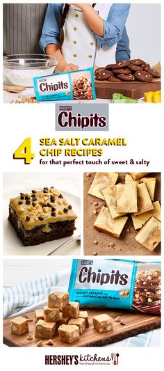 For the perfect mix of sweet and salty, these easy-to-make CHIPITS Sea Salt Caramel Chip desserts will delight even the pickiest of palates! Whether you're a fan of cakes, cookies, or bars, browse these delicious CHIPITS recipes that will have you wanting more!