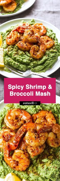 Spicy Shrimp and Broccoli Mash — Packed full of flavor, this low carb, paleo dinner will blow you away.