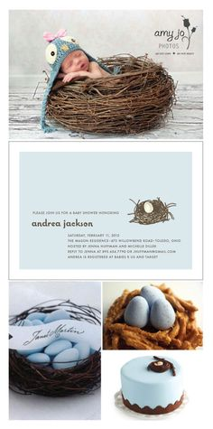 Feather Her Nest Baby Shower Invitations