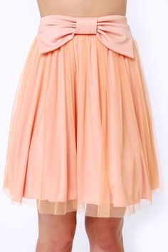 6a7335179d1c Cute Peach Skirt - Skater Skirt - Mini Skirt - Tulle Skirt - $35.00 Cute  Skirts