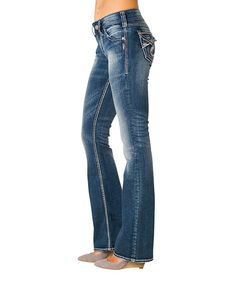 This Indigo Curvy Suki Surplus Bootcut Jeans - Women by Silver Jeans Co. is perfect! #zulilyfinds