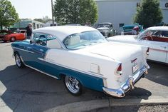 55 Chevrolet Bel Air.  I learned to drive in one of these.  Parallel parking with a stick shift......