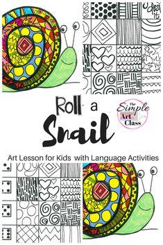 turtles art for kids - Art Lesson Snail Art Game Art Sub Plans Animal Art Projects, Easy Art Projects, Projects For Kids, Art Games For Kids, Art Lessons For Kids, Art Sub Plans, Art Lesson Plans, Art Curriculum, Curriculum Planning