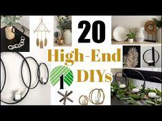 Top 20 High End Dollar Tree DIY Home Decor Dupes | Pottery Barn + Kirklands & More - YouTube