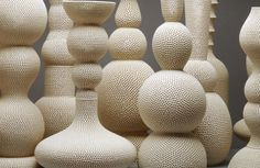 perforated ceramics by Tony Marsh