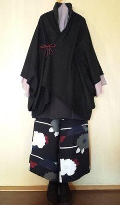Harajuku Fashion, Japan Fashion, Male Kimono, Modern Kimono, Kimono Design, Japanese Costume, Traditional Kimono, Chinese Clothing, Japanese Outfits
