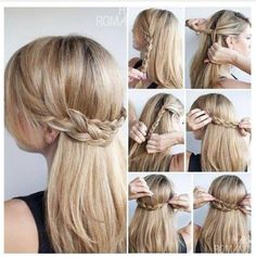 Super easy hair tutorial. Braids