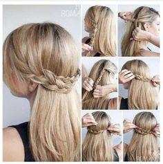 Super easy hair tutorial. Braids