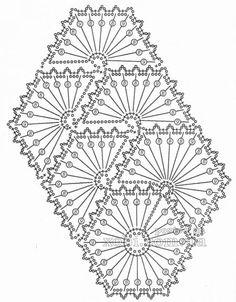 ленточное кружево 97 - схема вязания