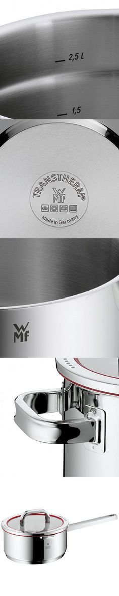 WMF Function 4 Saucepan with Lid, 2-1/2 Quart