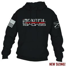 Beautiful Badass Hoodie – Grunt Style - Tap the pin if you love super heroes too! Cause guess what? you will LOVE these super hero fitness shirts Grunt Style Shirts, Shirt Style, Girly Girl, Outfits Dress, Formal Outfits, Emo Outfits, Teenager Outfits, College Outfits, Work Outfits