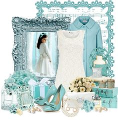 """""""Tiffany's Blue"""" by stylesbyjoey ❤ liked on Polyvore"""