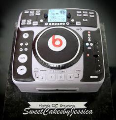 DJ cake, turntable, beats, guys birthday cake