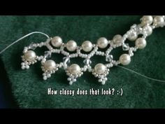 Beading Swarovski 6mm pearl and 4mm bicone necklace #Seed #Bead #Tutorials