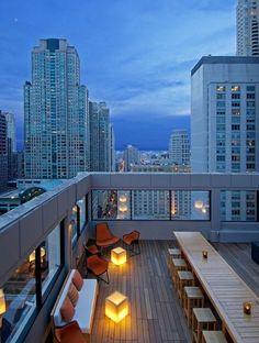 Les plus belles terrasses de Pinterest - Gratte-ciel - rooftop