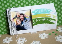 Merry & Bright Pocket Photo Card by Danielle Flanders for Papertrey Ink (September 2013)